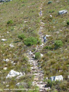 Climbing up Table Mountain