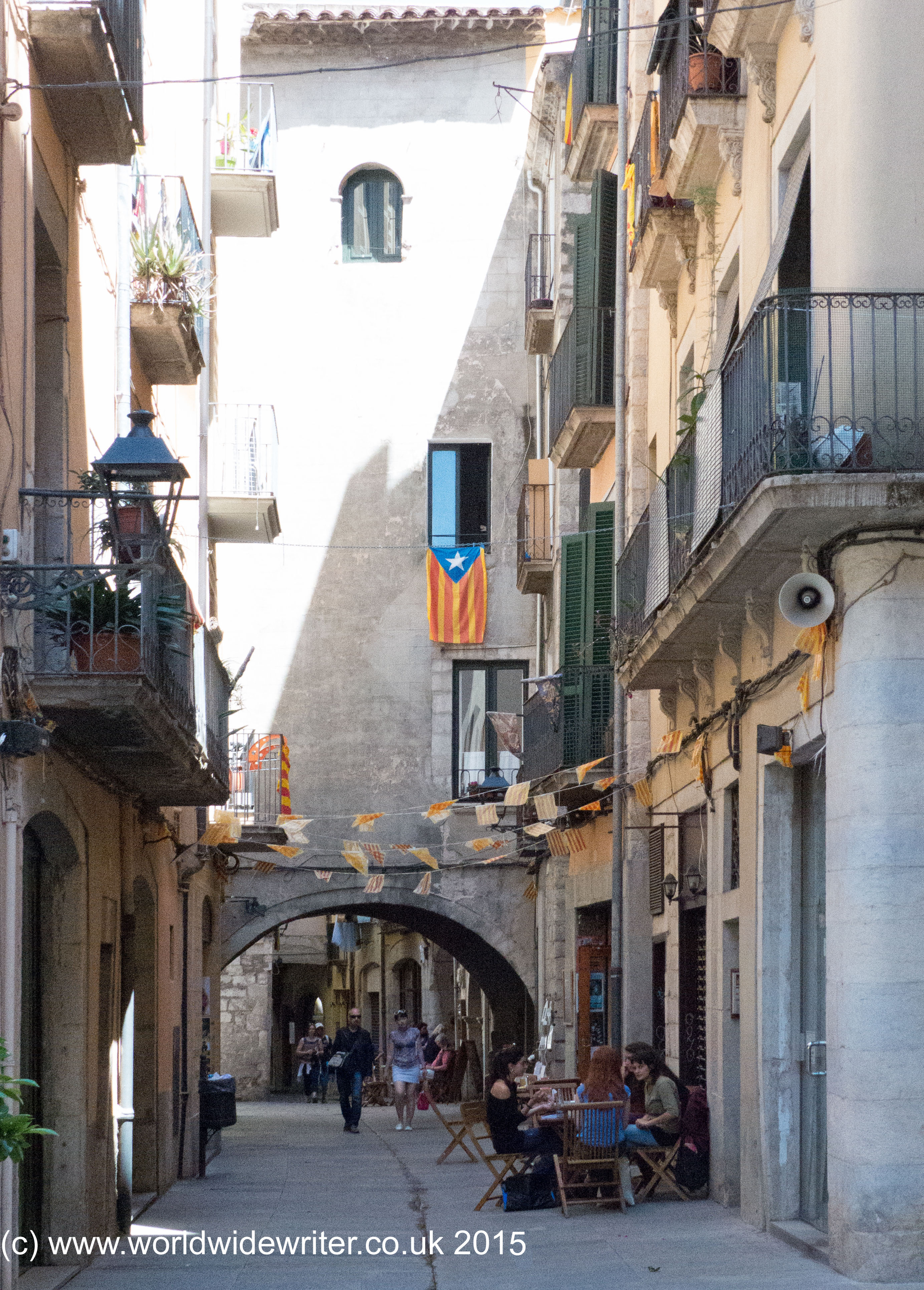 The Old Hermit: The Old Town And Walls Of Girona, Costa Brava