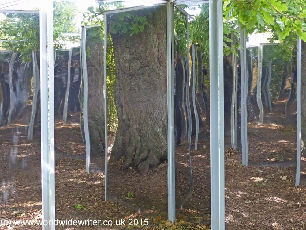 Oak Mirror, Burghley House Gardens