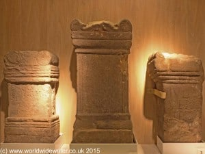 Altars at Arbeia Roman Fort, South Shields - www.worldwidewriter.co.uk