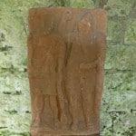 Roman statue at Lanercost Priory, Northumberland - www.worldwidewriter.co.uk