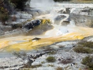 Sulphurous water at Whakarewarewa, New Zealand - www.worldwidewriter.co.uk