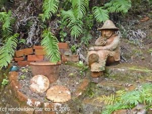 Pottery figure, Driving Creek Railway