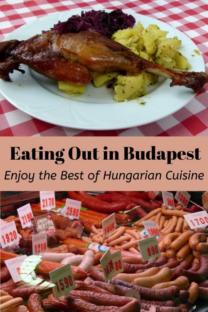 Hungarian cuisine - goose leg and sausages