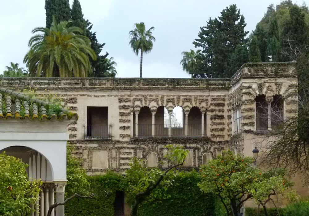 Covered arcade, Alcazar, Seville