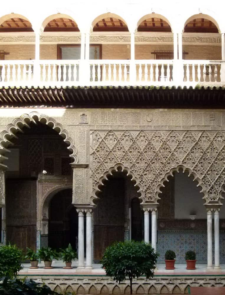 Renaissance arches, Real Alcazar, Seville