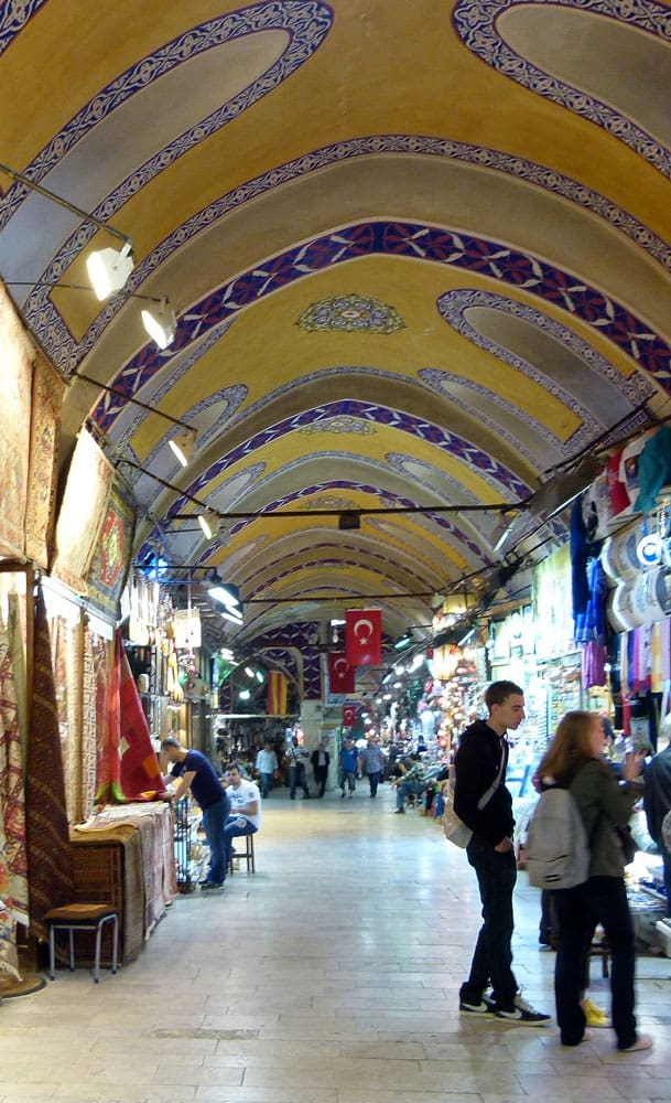 Domed ceiling of the Grand Bazaar