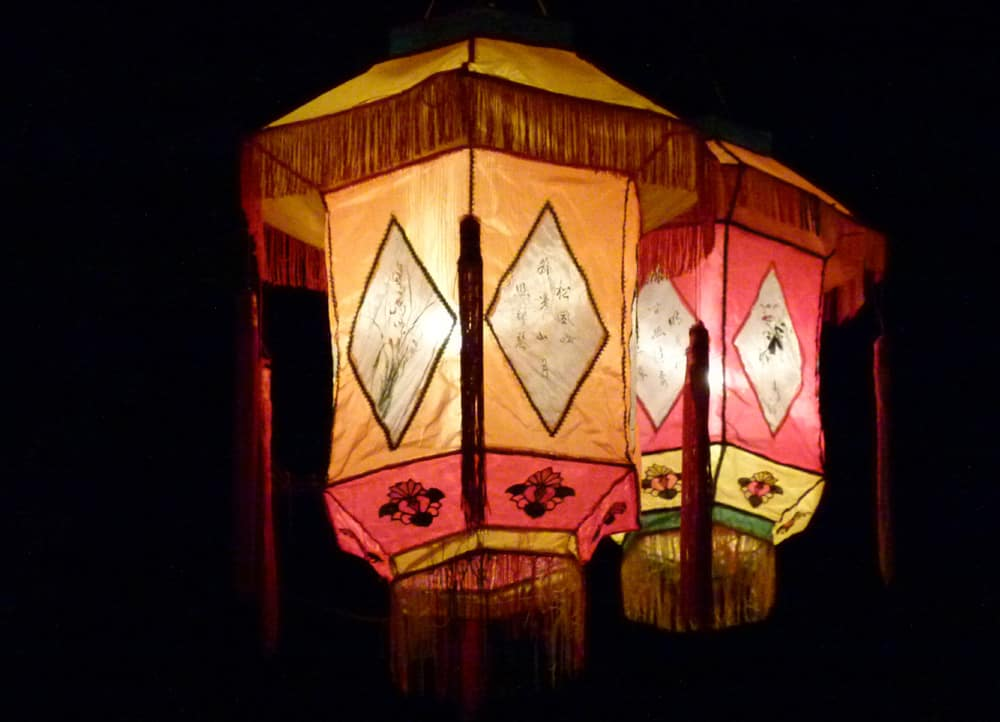 Lanterns at the Christchurch Lantern Festival