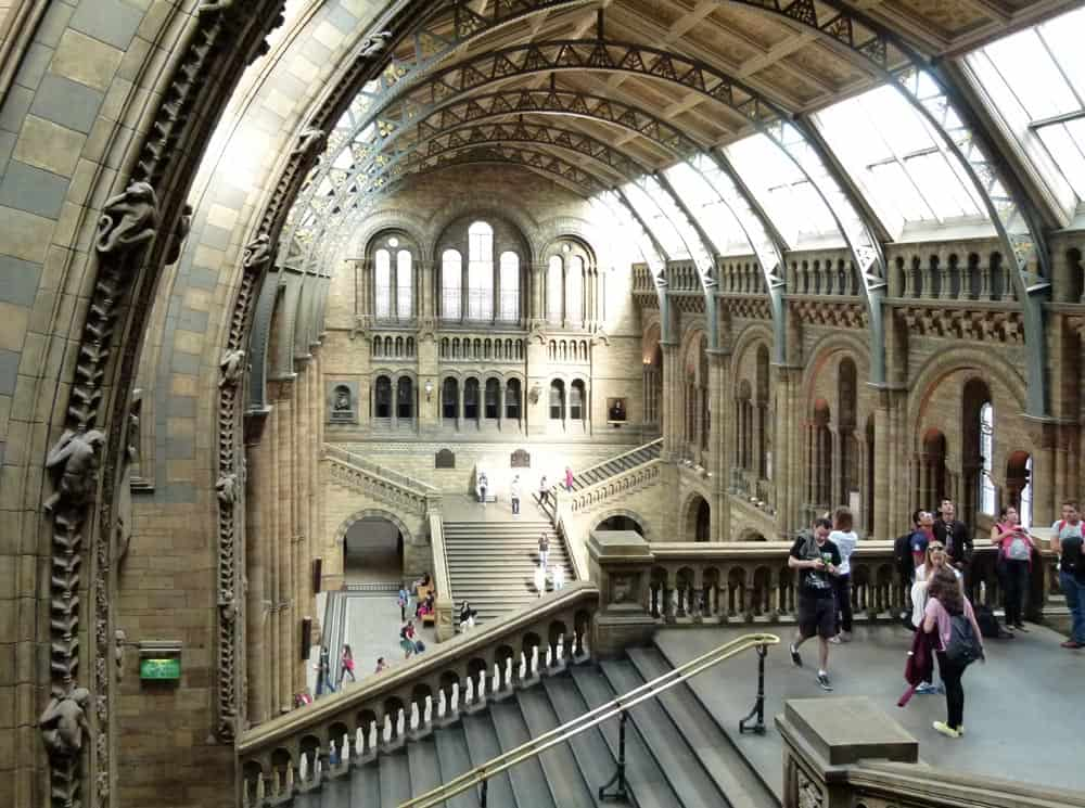 The grand architecture of the Natural History Museum, London
