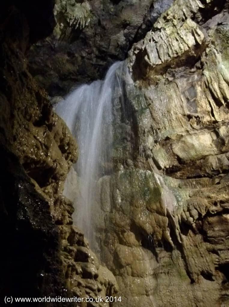 Underground waterfall, White Scar Cave, Yorkshire