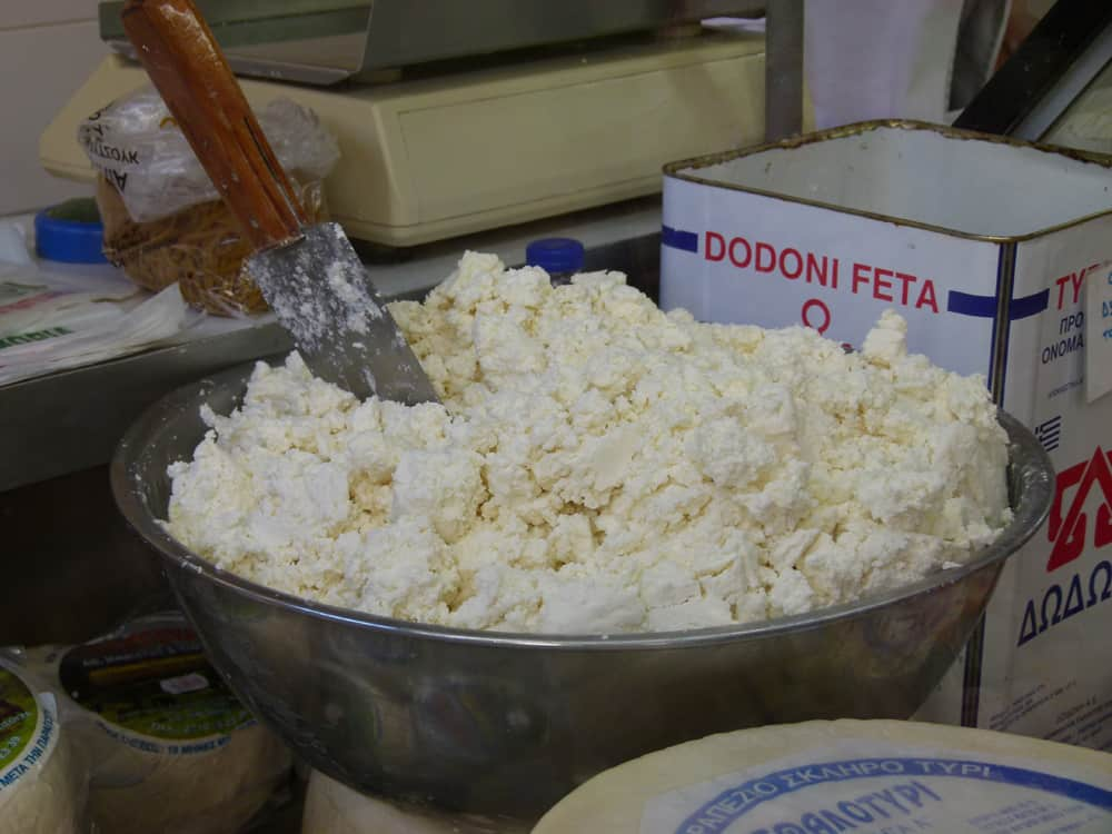 Spreadable feta cheese