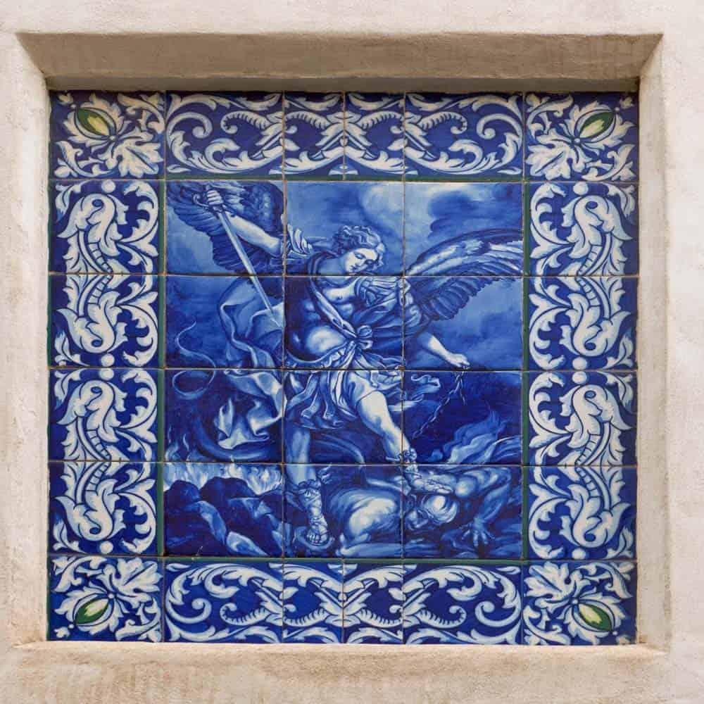 Tiles on a house in Lloret de Mar