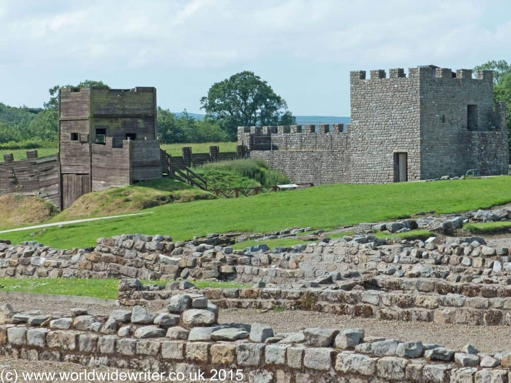 Reconstructed forts at Vindolanda