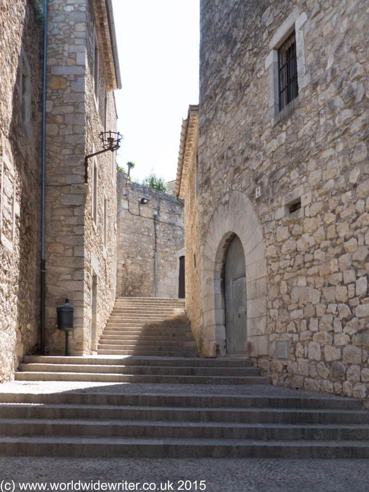 Stairway inside the Girona city walls