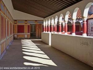 Courtyard, Arbeia Roman Fort, South Shields - www.worldwidewriter.co.uk