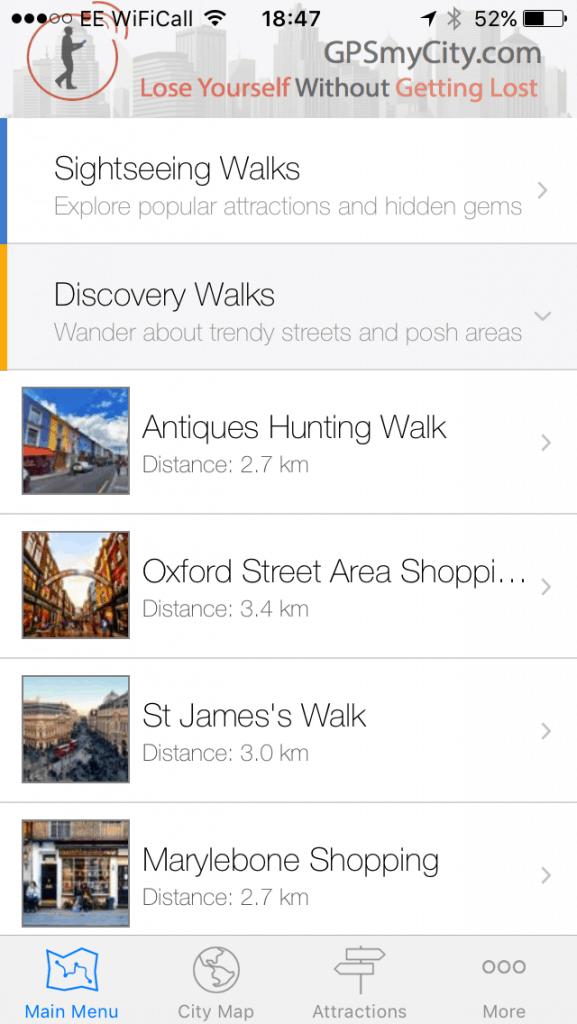 London walks with GPSmyCity