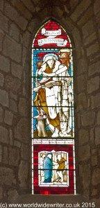 Stained glass at Lanercost Church, Northumberland - www.worldwidewriter.co.uk
