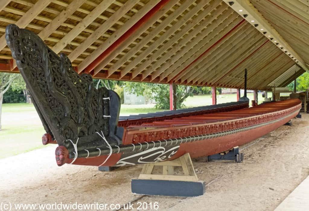 Maori ceremonial canoe