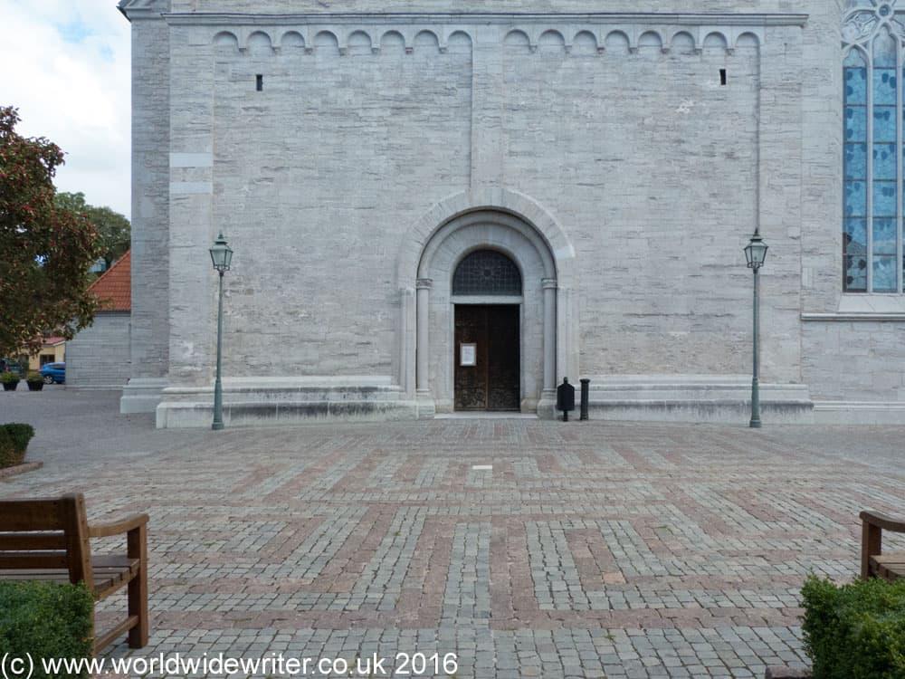Pavement maze in Visby, Gotland