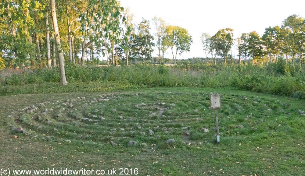 Labyrinth at Romakloster, Gotland