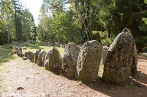 Boat shaped grave at Gnisvärd, Gotland