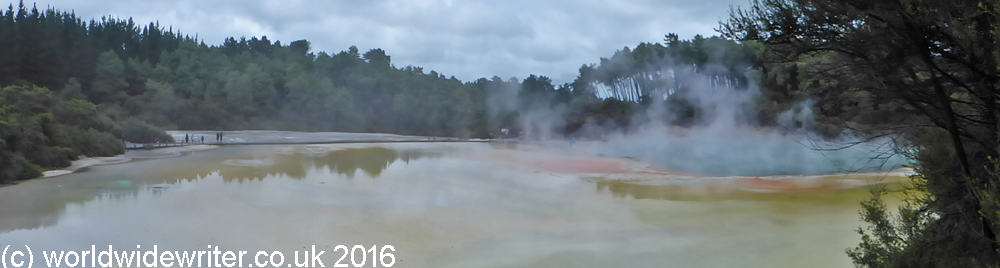 Hot Springs and Rainbow Rocks at the Waiotapu Thermal Park