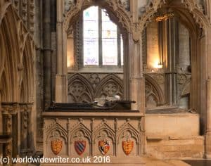 Queen Eleanor's tomb, Lincoln Cathedral