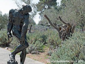 Rodin sculpture of Adam