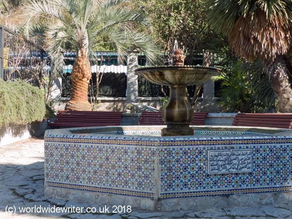 Moorish fountain. Gibraltar Botanic Gardens