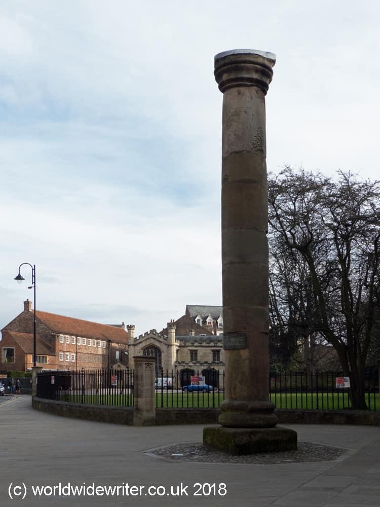 Roman column, York