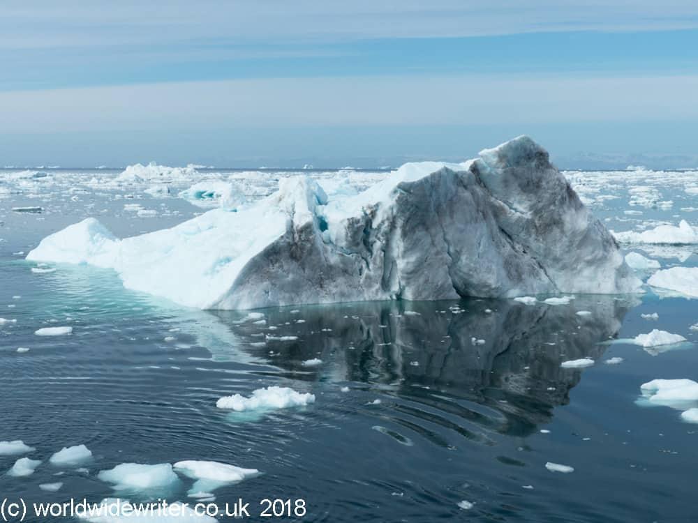 Greenland ice field