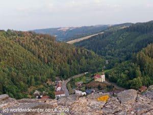 View from Svojanov Castle