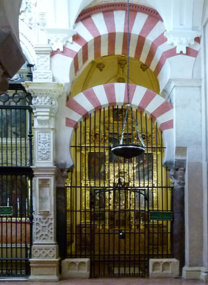 Side chapel in La Mezquita, Cordoba