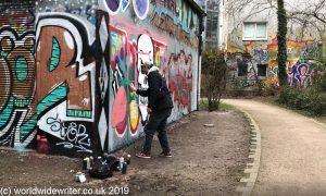 Street art, Flora Park, Hamburg