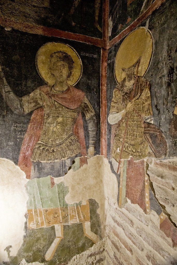 St Nicholas the Miracle Maker, one of the frescoes of Boyana Church