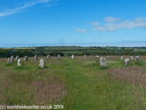 The Merry Maidens Circle in Cornwall