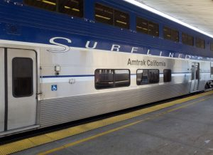 Amtrak train in Los Angeles