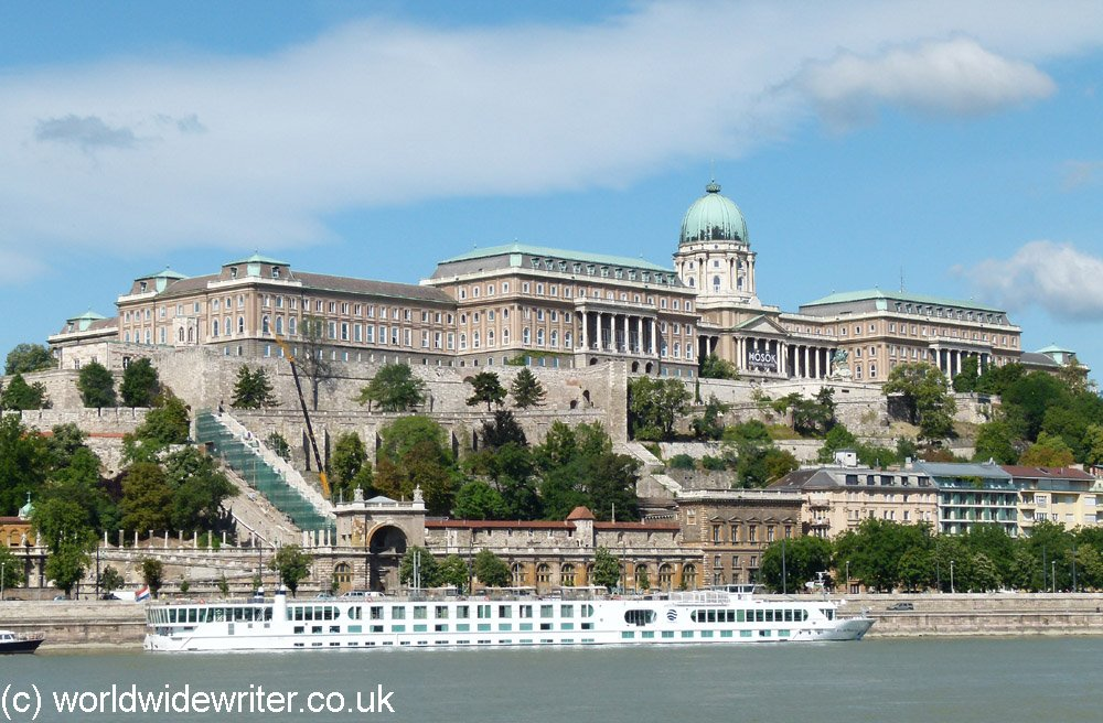 Buda Castle, seen from the Danube