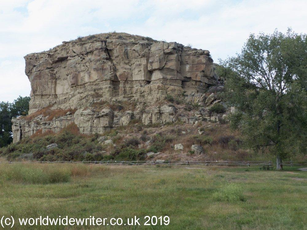 Pompeys Pillar, a gigantic sandstone outcrop