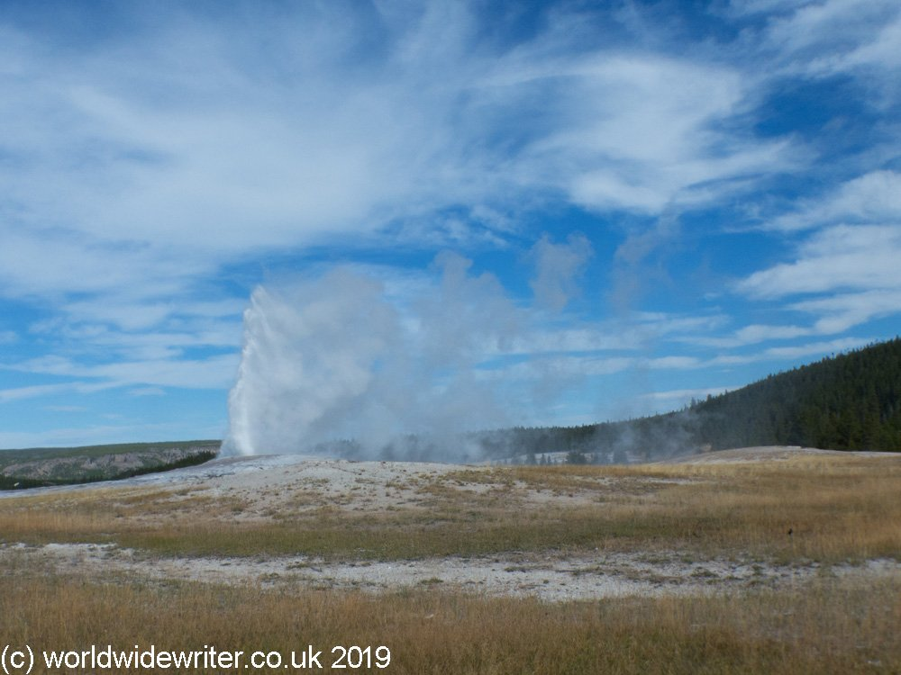 The eruption of Old Faithful