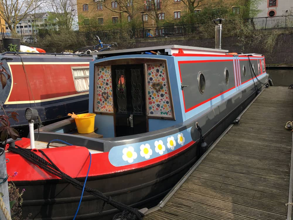Colourful barge at Little Venice