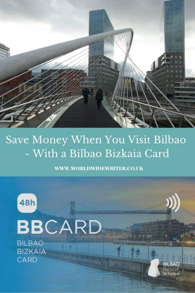 Bilbao card and the Zubizuri Bridge