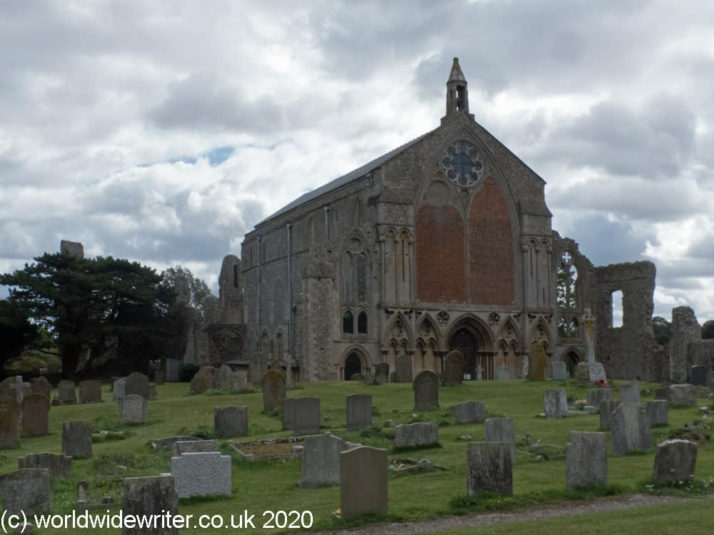 Binham Priory and churchyard