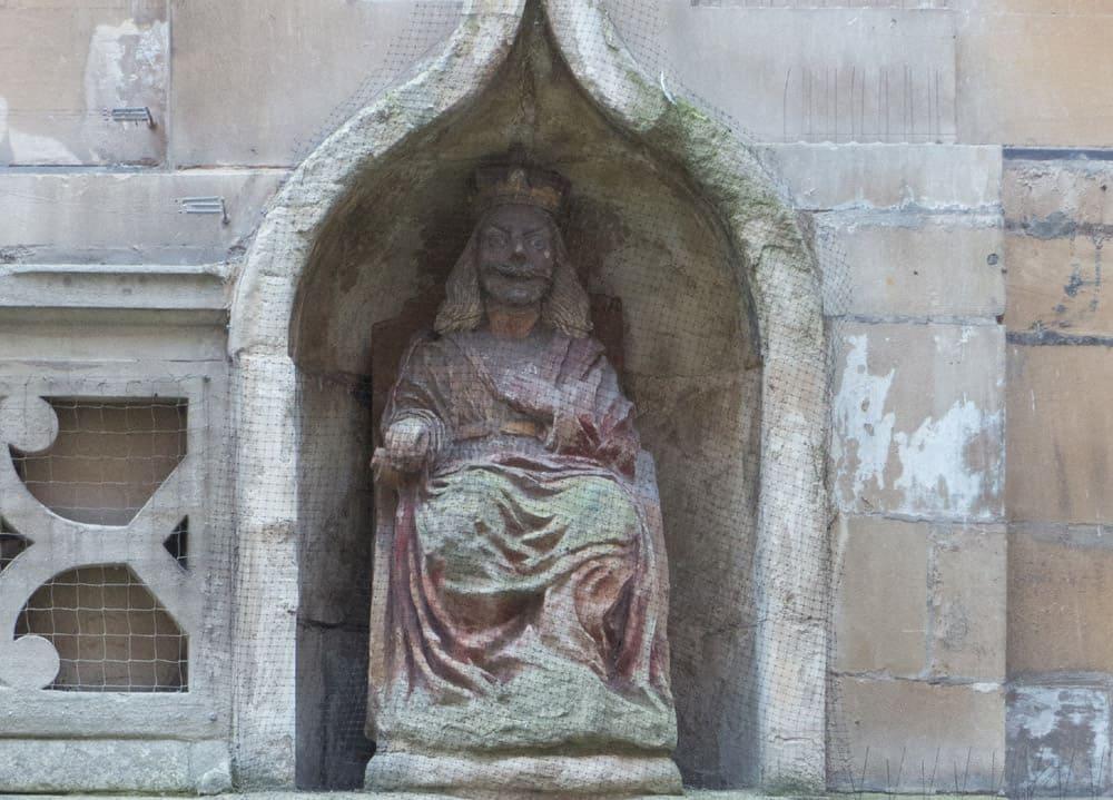 Statue set into a wall