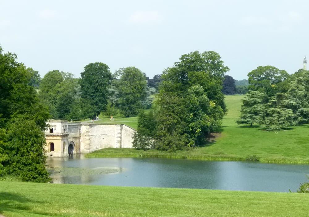Water and bridge in Blenheim Palace gardens