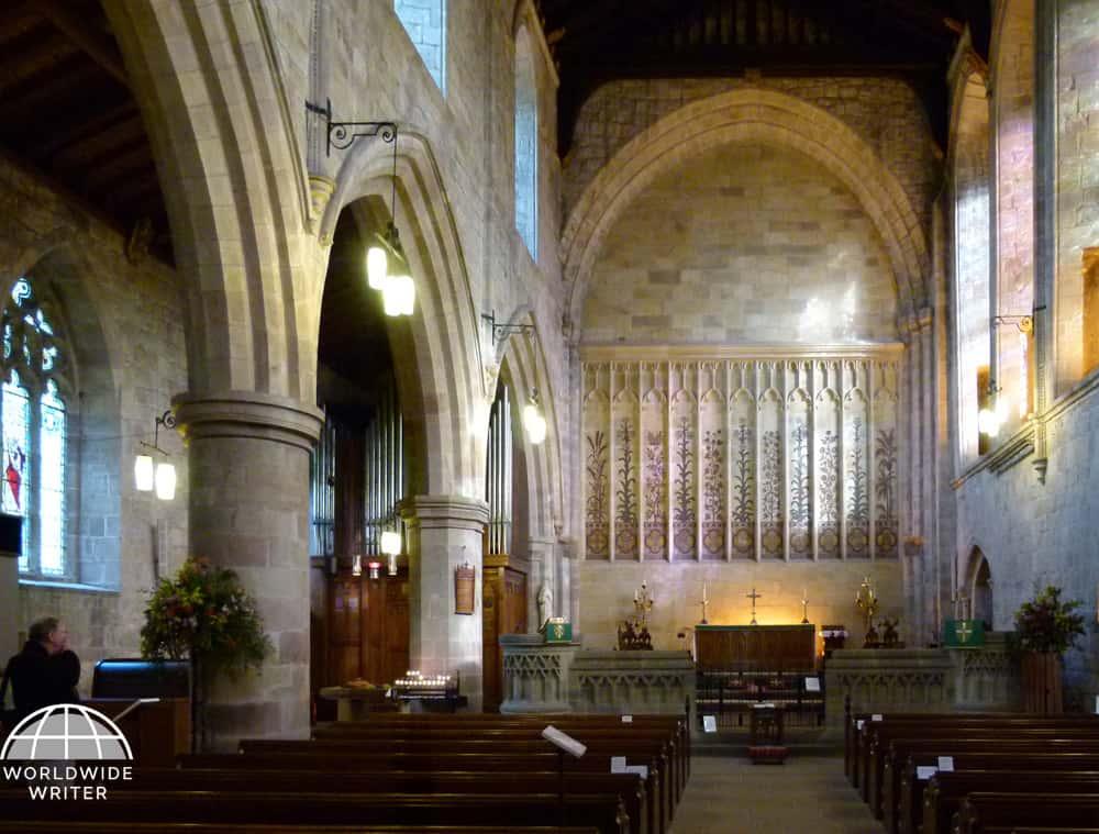 Interior of the Bolton Priory church