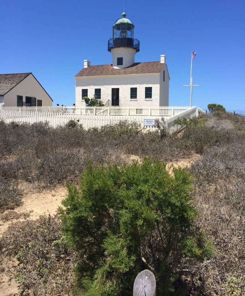 The Cabrillo National Monument at the top of a hill