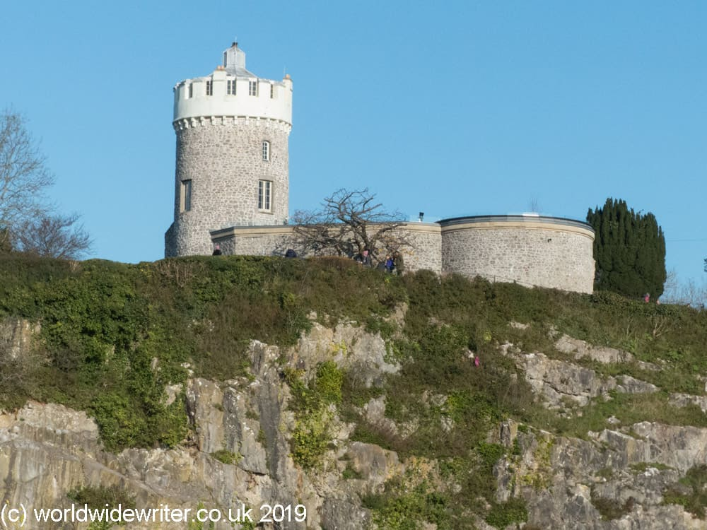 The Clifton Observatory is on a tall cliff