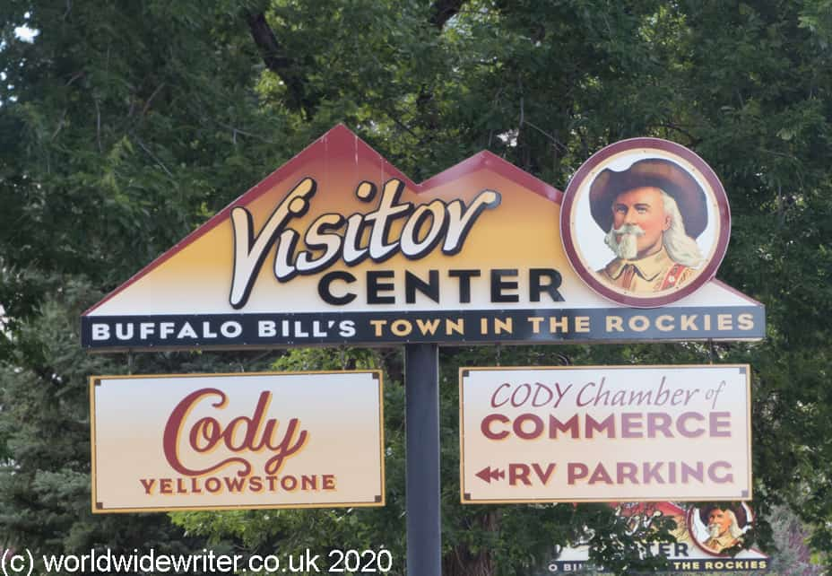 Advertising sign with picture of Buffalo Bill