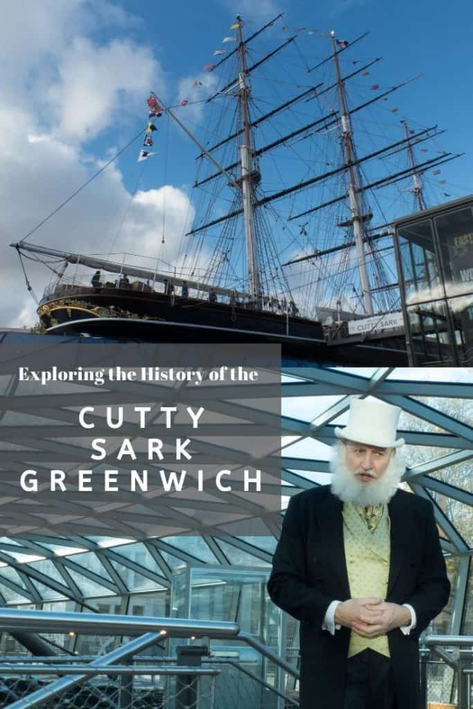 The Cutty Sark and an actor playing Jock Willis, the original owner